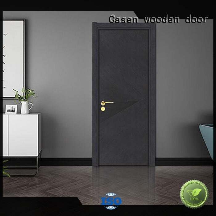 white wood modern composite doors simple style for washroom Casen