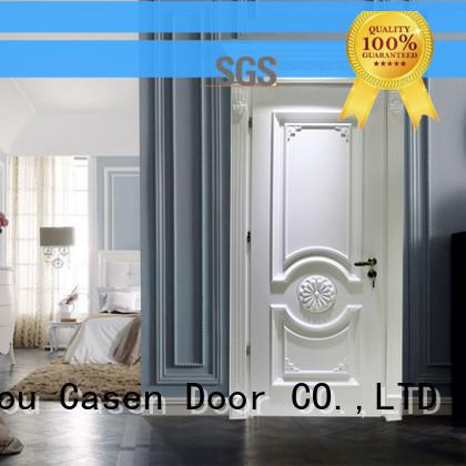 Casen modern wooden door easy for bathroom