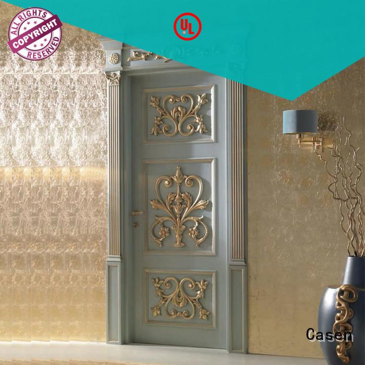 Casen white color luxury wooden doors easy for living room
