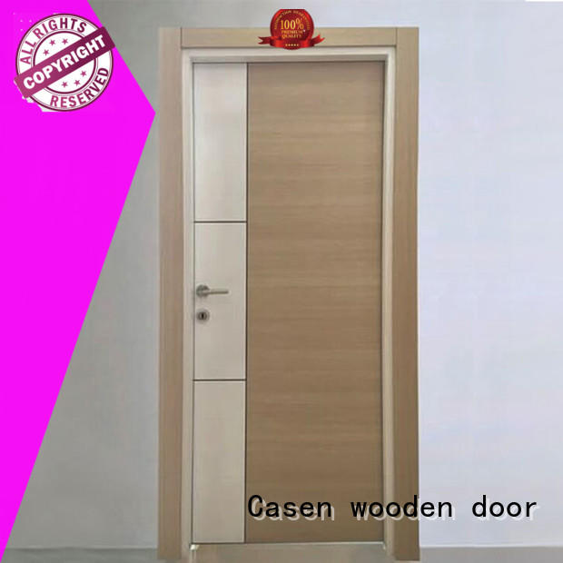 Casen chic solid core mdf interior doors wholesale for washroom