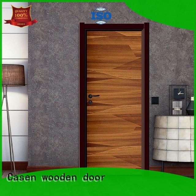 Casen light color composite wood door wooden for bathroom