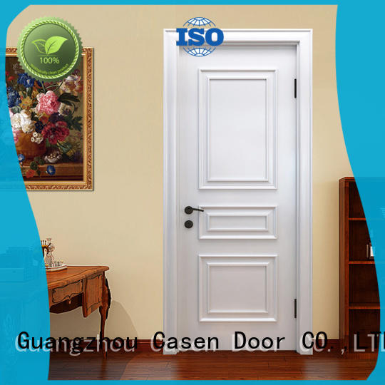 Casen white color luxury wooden doors modern for bathroom