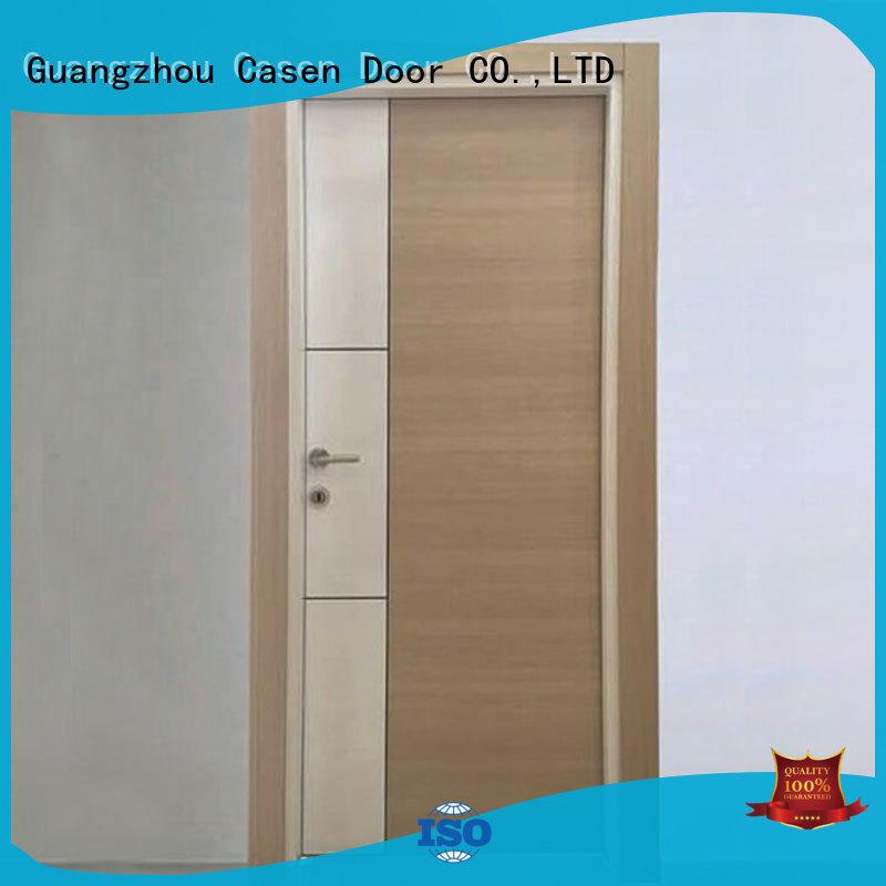 flat white dark design solid core mdf interior doors Casen Brand