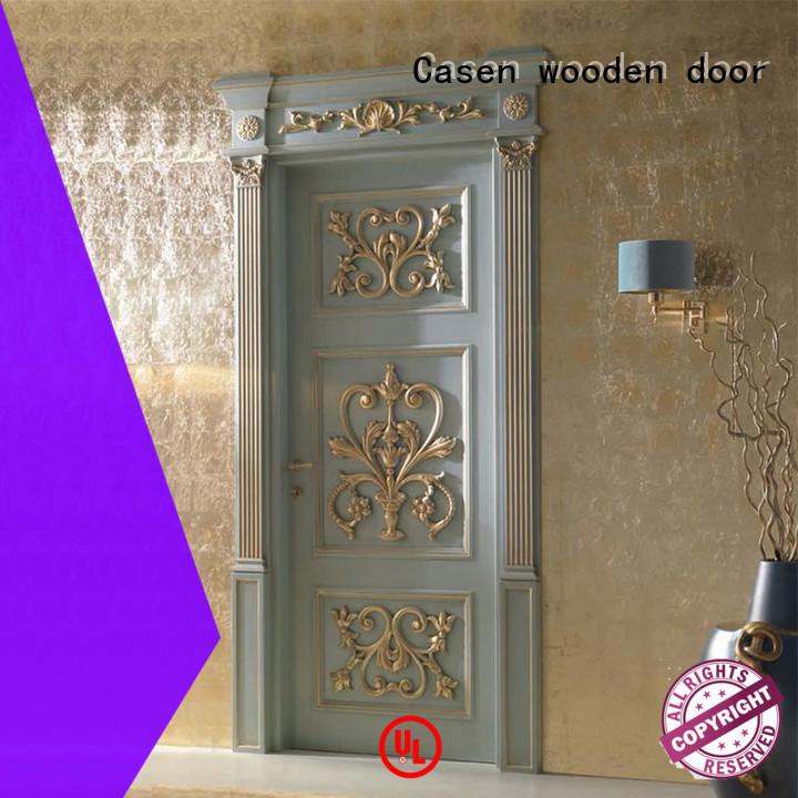 Casen wooden wooden door modern for bathroom