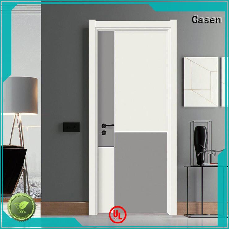flat modern composite doors wooden for bathroom Casen