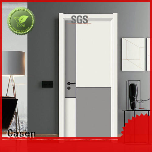 white wood contemporary composite doors flat Casen
