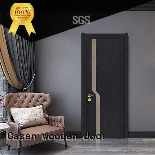 flat composite door white wood for bathroom Casen