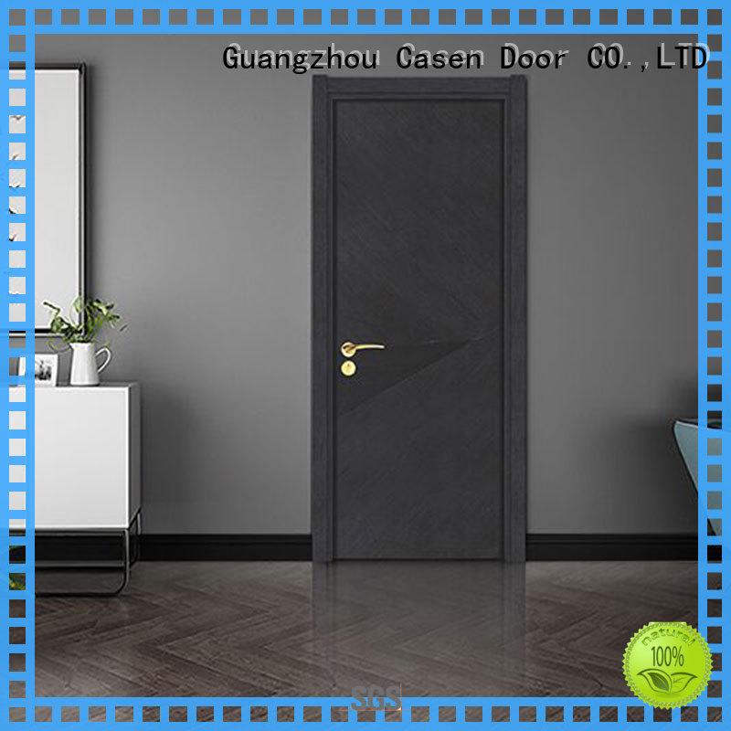 wooden modern composite doors gray for washroom Casen