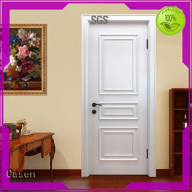 Casen white color solid wood interior doors french design for store decoration