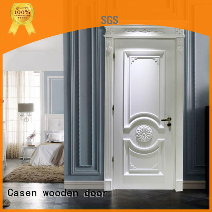 white color wooden door modern french design for kitchen