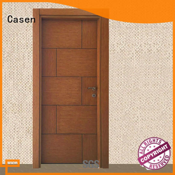 Casen solid core mdf doors wholesale for washroom