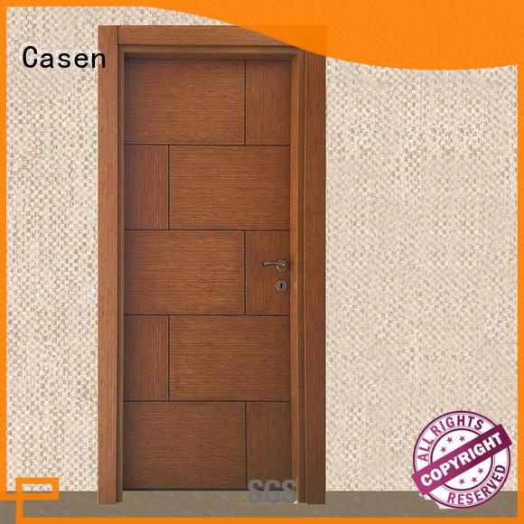 Casen solid core mdf doors wholesale for washroom