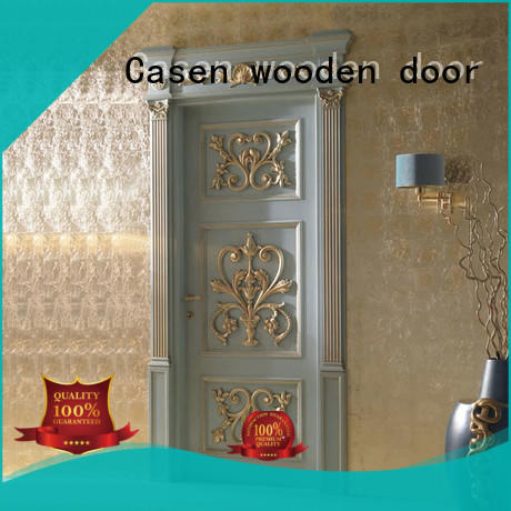 Casen wooden luxury internal doors carved flowers for bathroom