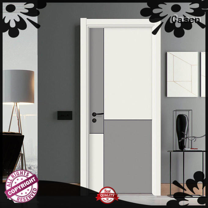 Casen light color composite door best design for bathroom
