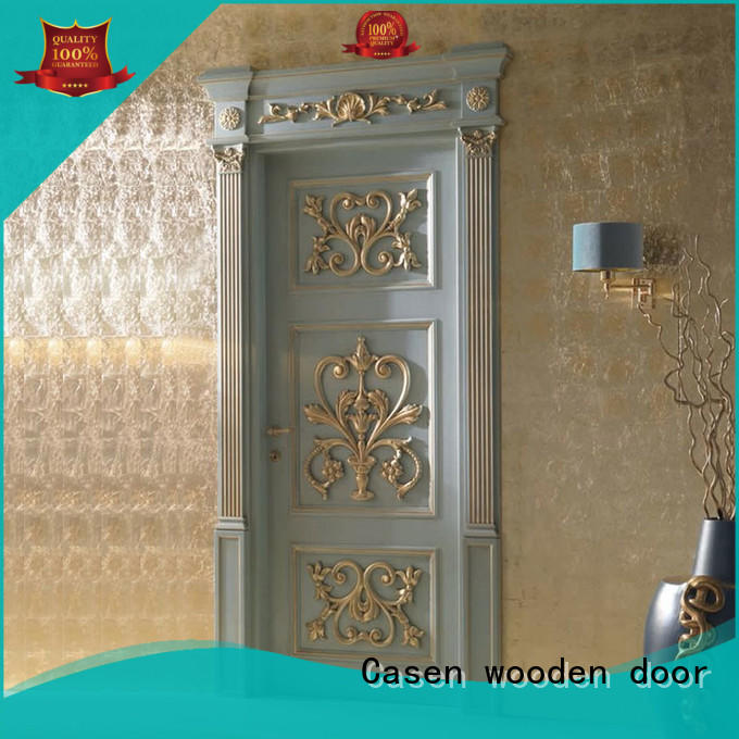 Casen wooden wooden door modern for store decoration