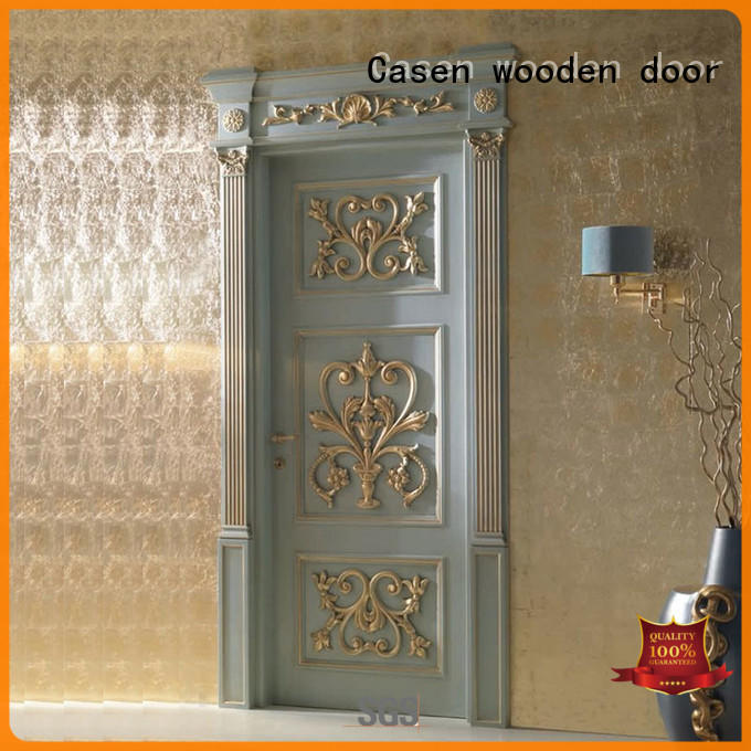 Casen white color internal glazed doors modern for bathroom