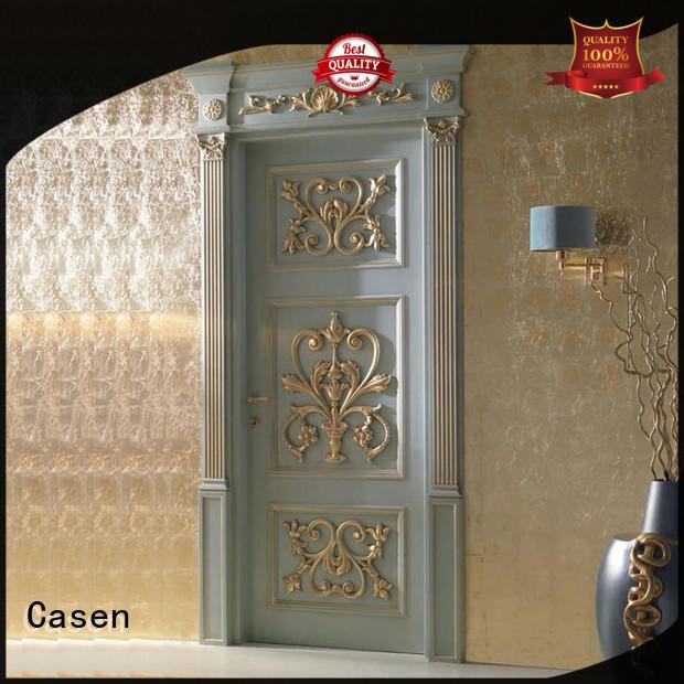 Casen white color luxury front doors for homes easy for living room