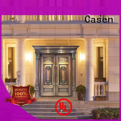 Casen solid wood front doors front for villa