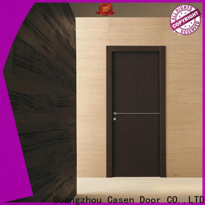 OBM modern wooden front door designs chic wholesale for washroom