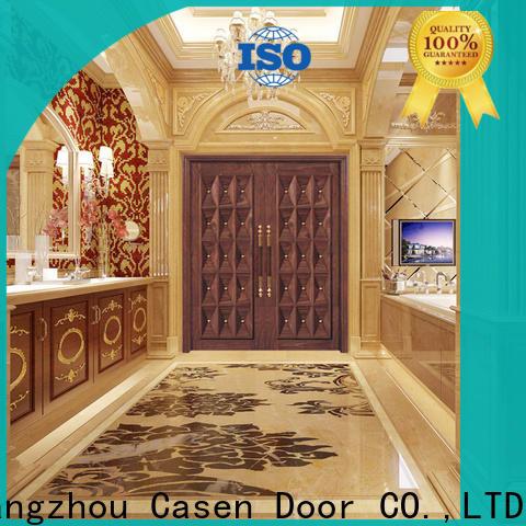 Casen solid wood main door design supplier for villa