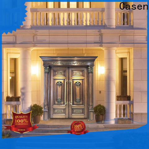 Casen wooden exterior wood doors wholesale for shop