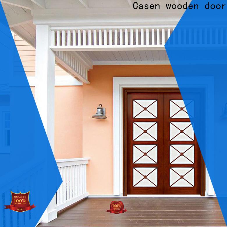 Casen quality wooden main door design for home wholesale for shop