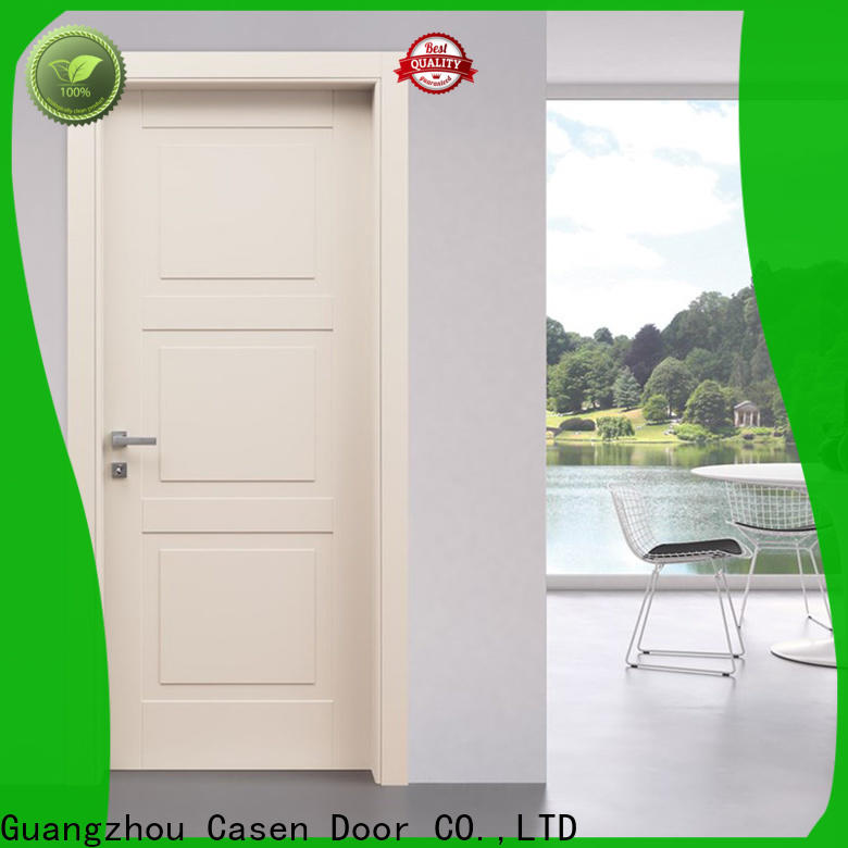 internal wooden doors white wood supplier for bathroom