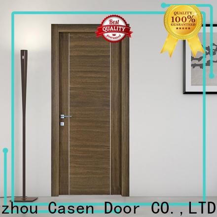 Casen high-end solid wood front entry doors supplier for washroom