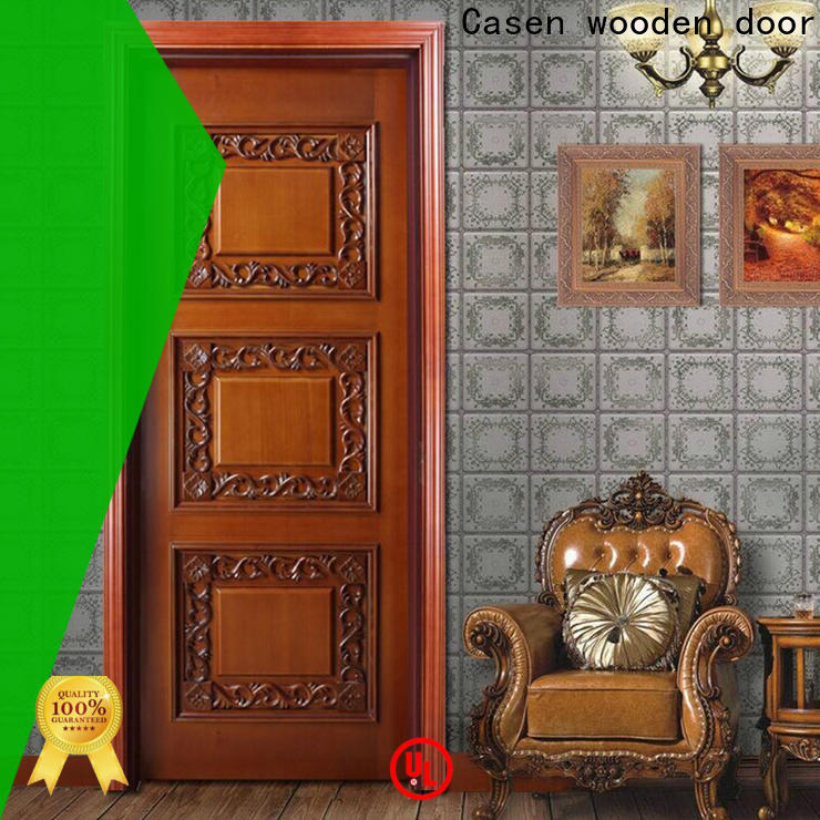 Casen american luxury wooden doors wholesale for living room
