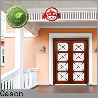 solid wood main door design glass manufacturer for store