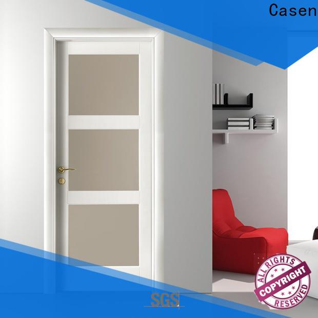 Casen bulk half glass interior door factory for washroom