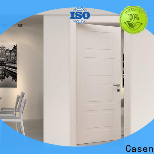 Casen white wood small internal doors vendor for washroom