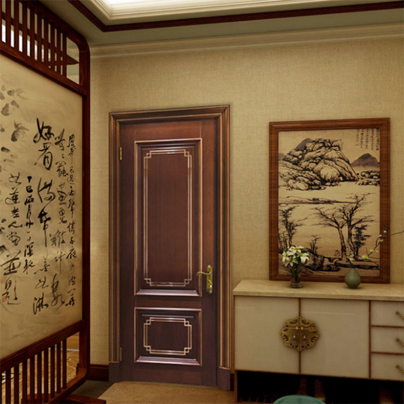 China Professional JS-9075 wood door with craft line Factory